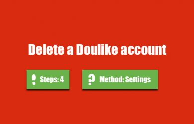 delete doulike account