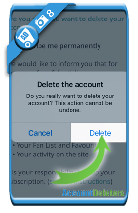 delete easyflirt account 8