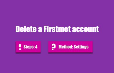 delete firstmet account