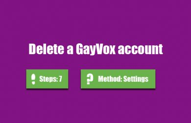delete gayvox account