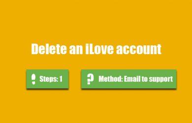 delete ilove account