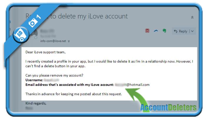 delete ilove account 1