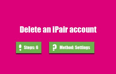 delete ipair account