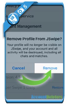 delete jswipe account 5