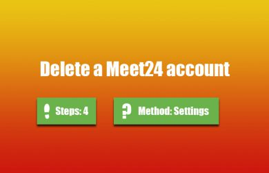 delete meet24 account