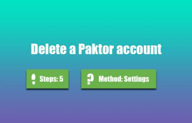delete paktor account