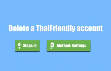 delete thaifriendly account