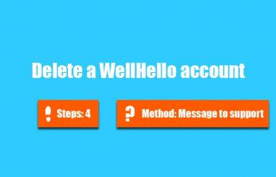 delete wellhello account