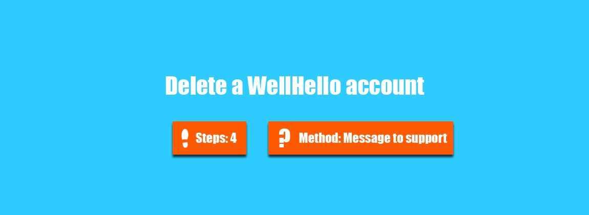 how to delete your wellhello account