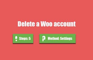 delete woo account