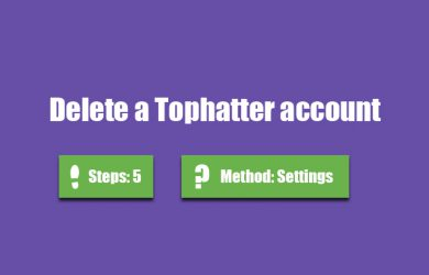 delete tophatter account