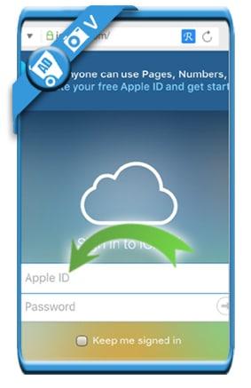 icloud login on iphone or ipad 6