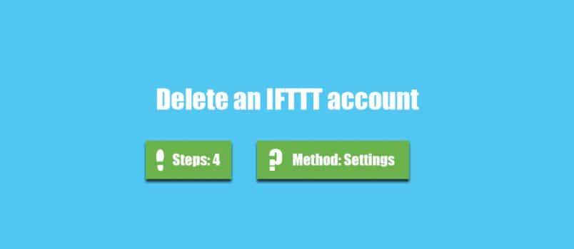 delete ifttt account