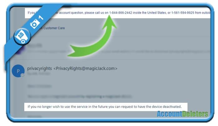 delete magicjack account