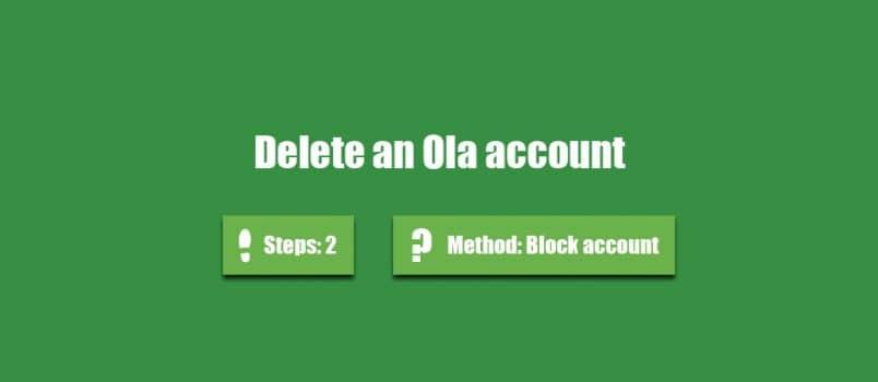delete ola account