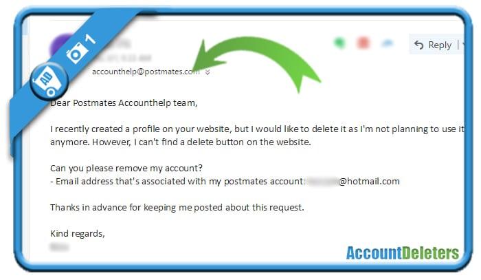 delete postmates account 1