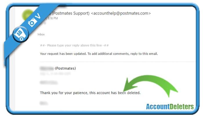 delete postmates account 2