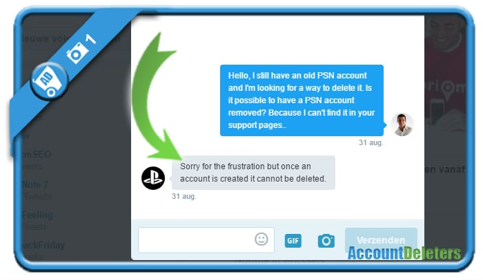delete psn account 1