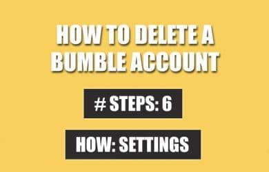 delete bumble account