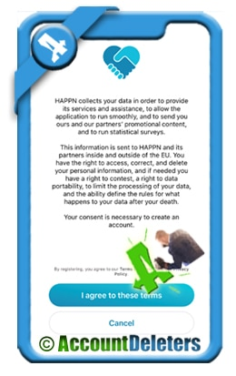 create happn account 3