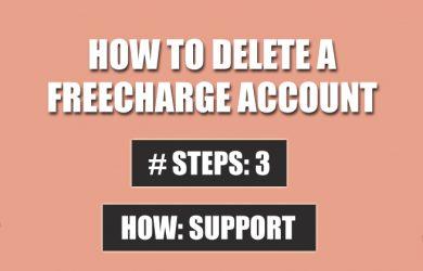 delete freecharge account