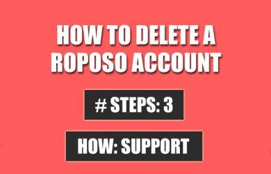 delete roposo account