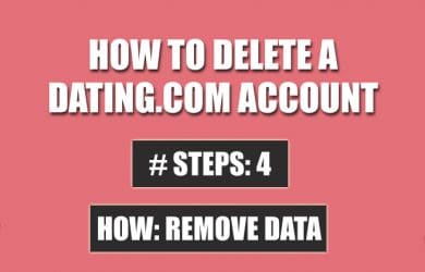 delete dating com account