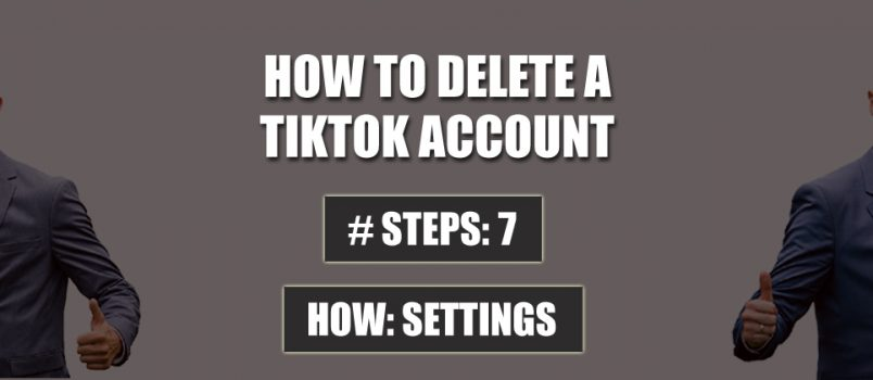 delete tiktok account