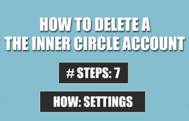 delete the inner circle account